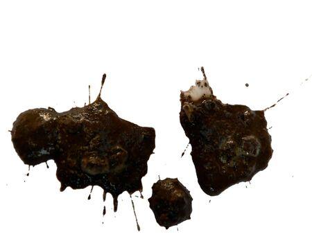 photo of mud splattered on a white background Stok Fotoğraf - 2204513