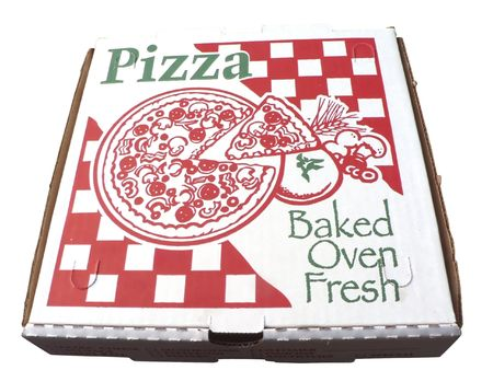 isolated photo of a pizza box Stock Photo
