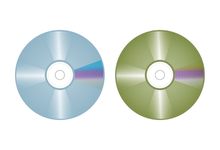 vector drawing of a blue and greenish tinted compact disc. These drawings are editable so you can customize the labels Stock Vector - 2225865