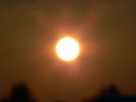 solarpower: photo of  the sunrise during a heatwave
