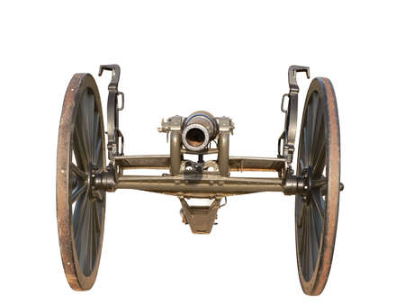 photo of a US Civil War cannon isolated over a white background Stok Fotoğraf - 2235852