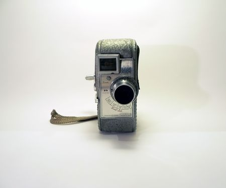 cropping:  isolated  photo of a vintage 8mm camcorder with space for cropping