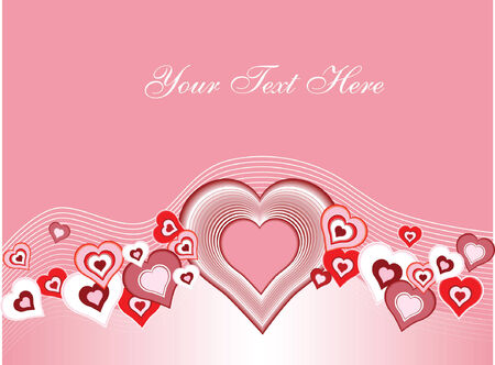 vector background of hearts flowing in a wave pattern. Great as a valentines day element.