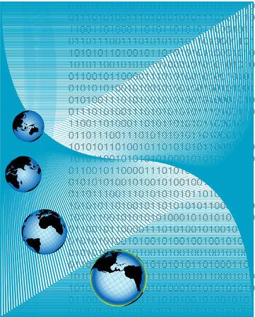 global networking: ilustraci�n vectorial que representa la creaci�n de redes mundiales y de la comunicaci�n