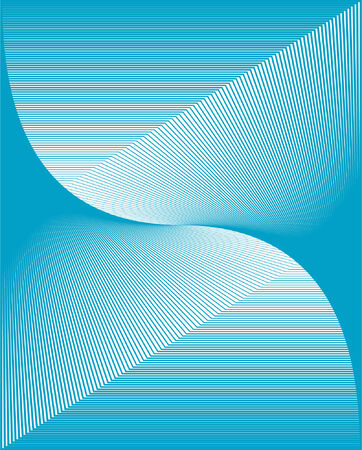 vector illustration of a wavy blue vector grid background Stock Vector - 2409725