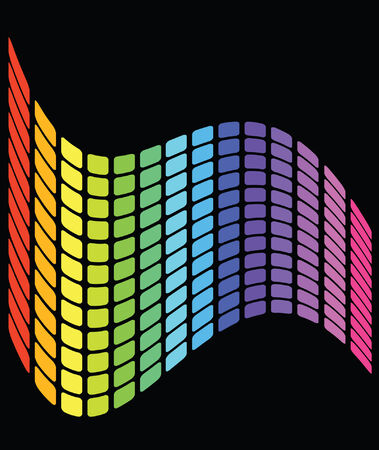 vector wavy grid pattern rainbow colored design which can be used as a design element or background