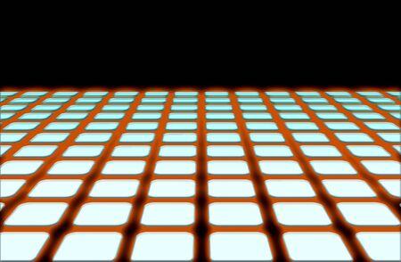 コンピューター セットアップ効果とデザイン要素としては、地平線ライン グリッドの図はそれに追加されます。 写真素材 - 2547395
