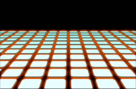 computer illustration of a horizon line grid that is setup as a design element with effects added to it. Stock Illustration - 2547395