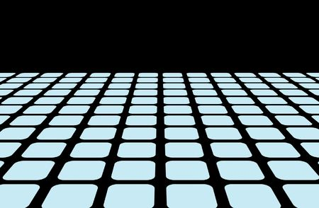 computer illustration of a horizon line grid that is setup as a design element that can have effects added to it. Stock Illustration - 2547394