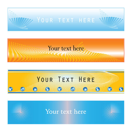 vector web banner variations in halftone grid pattern designs Illustration