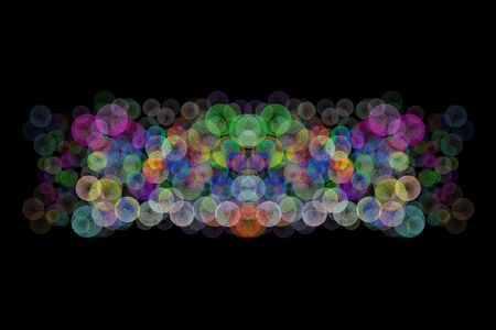 a circle abstract pattern background computer illustration Stock Illustration - 4525891