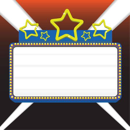 Película marquesina signo ilustración vectorial para mostrar su texto Foto de archivo - 4573786