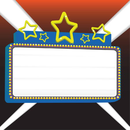 movie marquee sign vector illustration for displaying your text Çizim