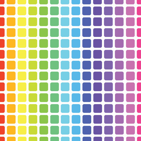 a seamless vector pattern of a rainbow grid