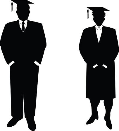 computer getrokken vector illustratie van mensen uit het bedrijfsleven die ook studenten. Elk beeld is gegroepeerd individueel voor eenvoudige layout manipulatie. Deze zijn niet silhouetten gemaakt van foto's!