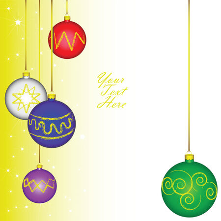editable vector of individually grouped christmas tree bulbs in a frame layout created for themes relating to the christmas and new years eve holidays. Stock Vector - 5997683