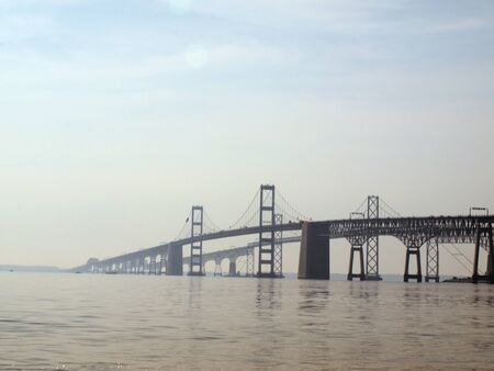 distant view of the Chesapeake Bay Bridge of Maryland photo
