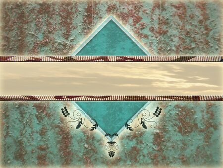 placeholder: photo montage of a rusty background over layed with a diamond shapeto create a text placeholder