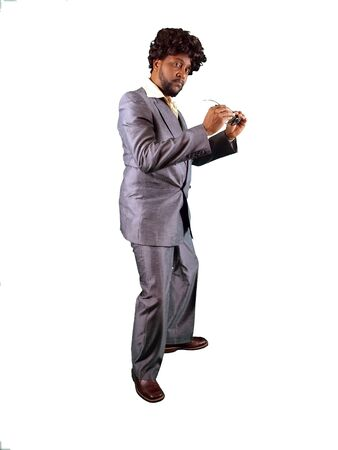 a man dressed in a retro 70's pimp styled suit photo