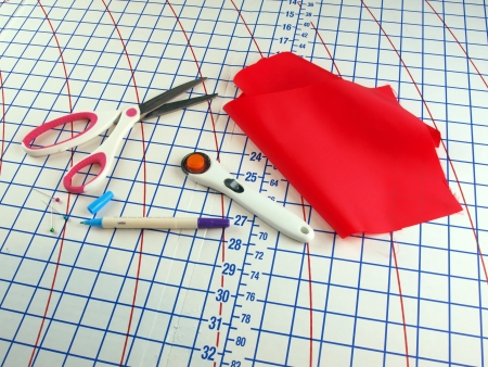 tools of a seamstress or tailor for making clothing or items made of cloth Stock Photo