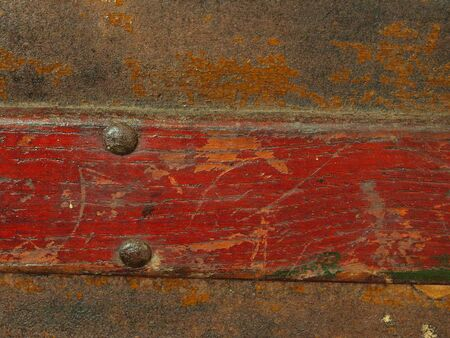 close up photo of a section of a antique chest
