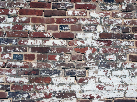 photo of an antique brickwall showcasing its weathered and appearance and texture Stock fotó - 47796155