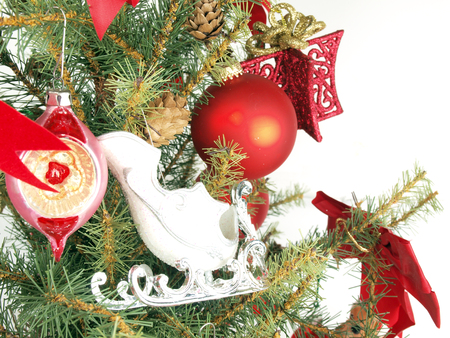 close up of a Christmas tree shot as a base image for custom holiday layouts Stock fotó - 50401085