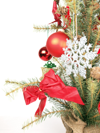 close up of a Christmas tree shot as a base image for custom holiday layouts Stock fotó - 50401090