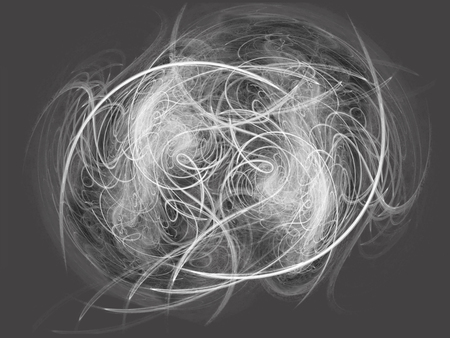 a grayscale abstract texture background of a swirling fractal image