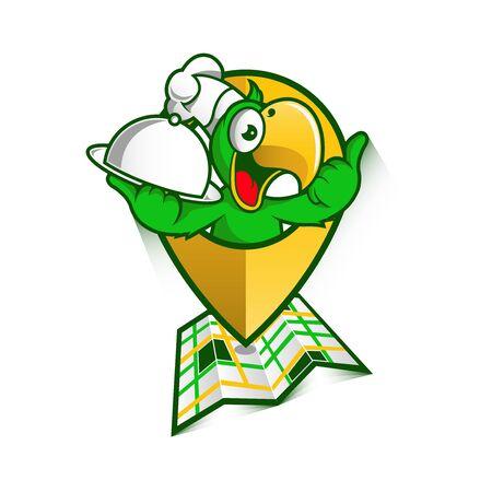 green chef bird 免版税图像 - 98702825