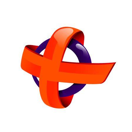 Orange cross icon. 免版税图像 - 98830555