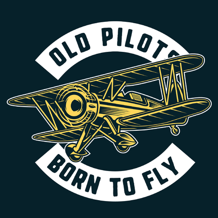 old pilot airplane