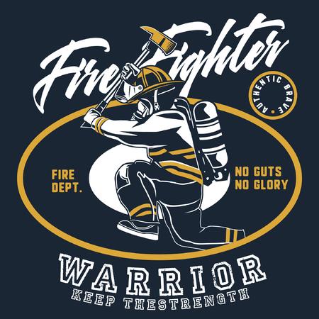 fire fighter crew 免版税图像 - 122379052