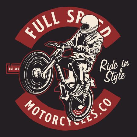 full speed motorcycles 免版税图像 - 122379061