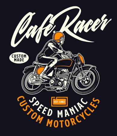 cafe racer speed maniac 免版税图像 - 122379062