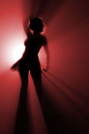 shape of disco dancer in red color