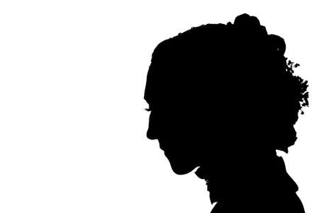 faithlessness: bride silhouette Stock Photo
