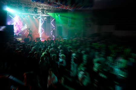 discotheque with light show Stock Photo