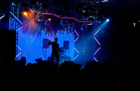 Scene in blue lights