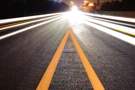 night traffic in miami. good use like background Stock Photo