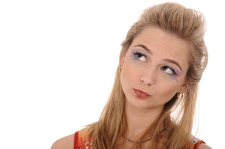 Closeshot of blonde woman with fashion make-up Stock Photo - 6275106