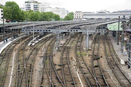 railway station in Paris photo