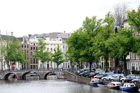gabled: residential district of Amsterdam Stock Photo