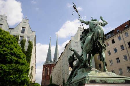 sculptures en centre de Berlin.