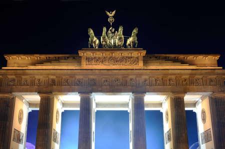 Brandenburger gate in Berlin, Germany photo