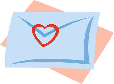 vector image of love letter. isolated on white Vector