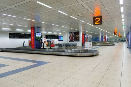 VERONA, ITALY - SEPTEMBER 11, 2014: Verona airport interior. Verona Villafranca Airport or simply Villafranca Airport, is an airport located around 5.0 km southwest of Verona, Italy Editorial