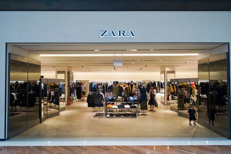 SINGAPORE - NOVEMBER 08, 2015: interior of Zara store. Zara is a Spanish clothing and accessories retailer based in Arteixo, Galicia, and founded in 1975 by Amancio Ortega and Rosalia Mera Editorial