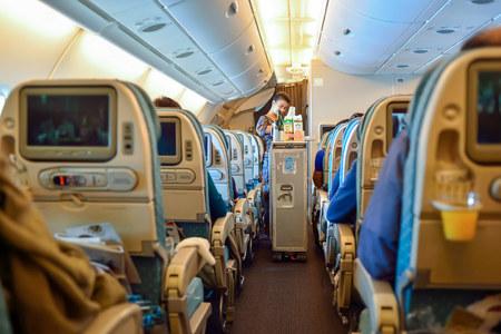 シンガポール航空エアバス a380 型機のシンガポール - 2015 年 11 月 3 日: インテリア。シンガポール航空リミテッドは、シンガポールのチャンギ空港を 報道画像