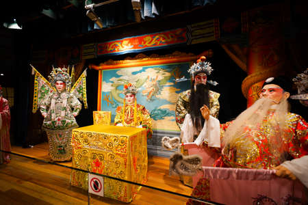 HONG KONG - OCT 18: Hong Kong Heritage Museum interior on October 18, 2014 in Hong Kong, China. Hong Kong Heritage Museum is a museum of history, art and culture in Sha Tin, Hong Kong, located beside the Shing Mun River.